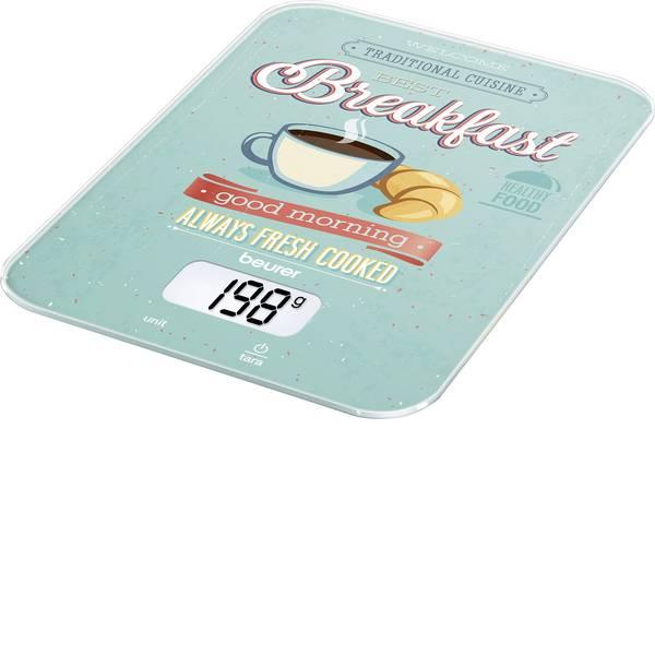 Bilance da cucina - Beurer KS-19 Breakfast Bilancia da cucina digitale digitale Portata max.=5 kg Menta, Colorato -