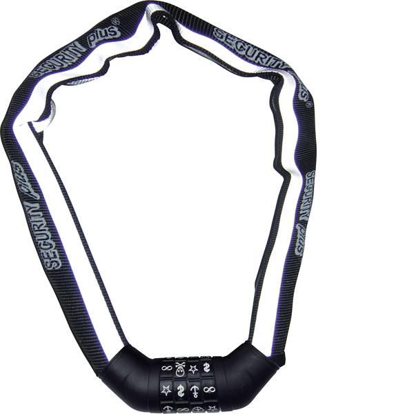 Lucchetti da bicicletta - Security Plus SKS 100 Catena con lucchetto Nero, Bianco (riflettente) rivestimento riflettente Lucchetto con codice a  -