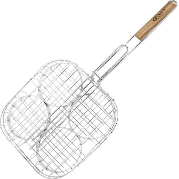 Accessori grill - Graticola per griglia tepro Garten 8587 - 4er Burgerpad Argento -