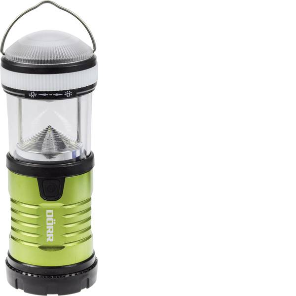 Lampade per campeggio, outdoor e per immersioni - LED Lanterna da campeggio Dörr Foto Premium-Steel PS-15575 200 lm a batteria 164 g Verde, Nero 980544 -