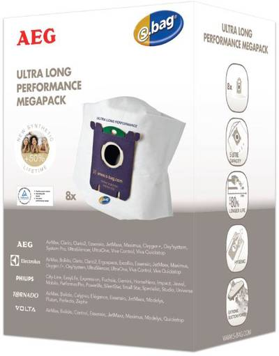 Sacchetto aspirapolvere AEG Electrolux GR 210M s-bag® Megapack 8 pz.