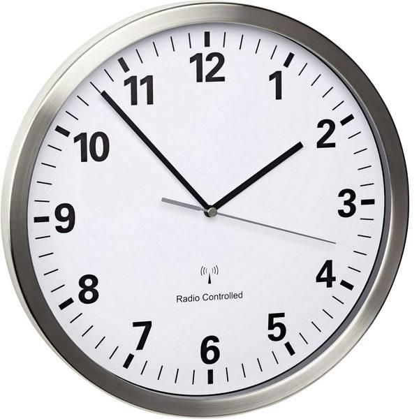 Orologi da parete - TFA 60.3523.02 Radiocontrollato Orologio da parete 30.5 cm x 4.3 cm Acciaio Movimento silenzioso (senza scatti),  -