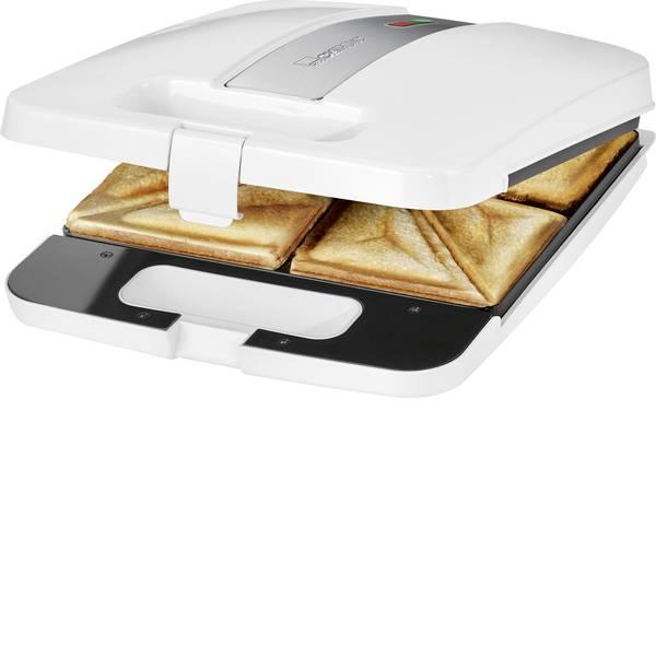 Tostiere - Piastra per sandwich Clatronic ST3629 Bianco-Argento -