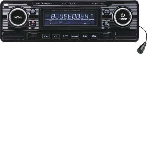 Autoradio e Monitor multimediali - Caliber Audio Technology RMD-120BT/B Autoradio Design retrò, Vivavoce Bluetooth® -