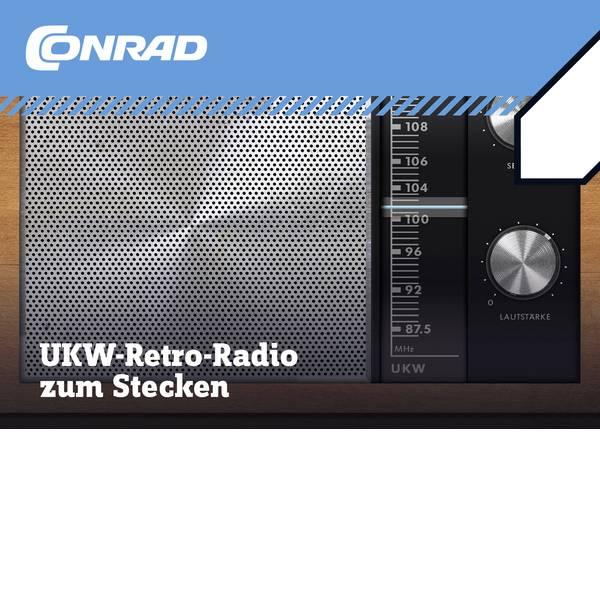 Kit esperimenti e pacchetti di apprendimento - Radio Retrò Conrad Components UKW-Radio zum Stecken 10196 -