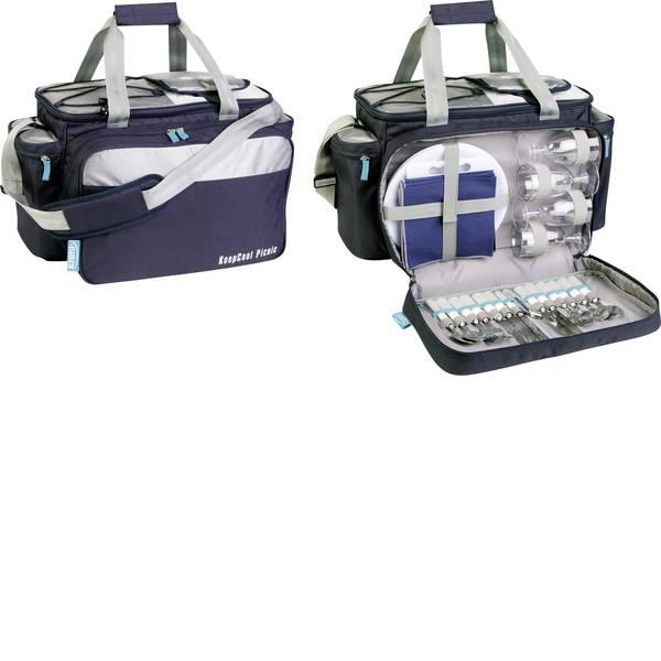 Contenitori refrigeranti - Ezetil Travel in Style 34 Picnic Bag Borsa termica Passivo Navy, Argento 34 l -