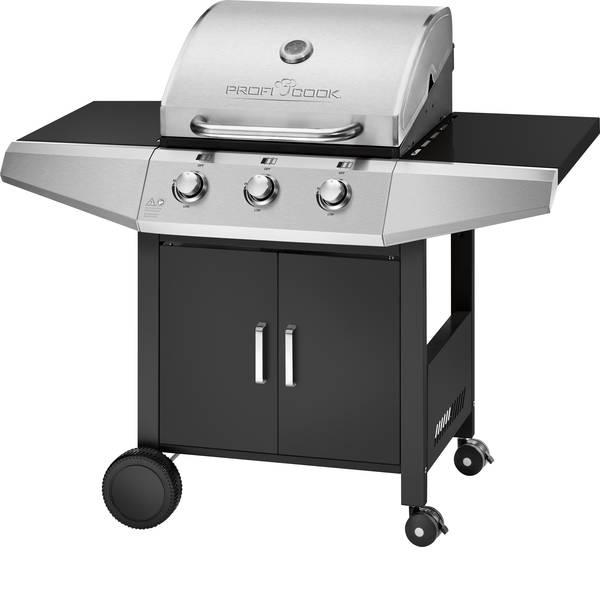 Grill - Profi Cook PC-GG 1057 B Carrello griglia Griglia a gas Nero - Argento -