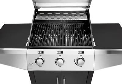 Griglia a gas Carrello griglia Profi Cook PC-GG 1057 B Nero - Argento