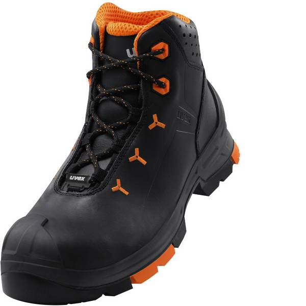 Scarpe antinfortunistiche - Stivali di sicurezza S3 Misura: 40 Nero, Arancione Uvex 2 6503240 1 Paia -