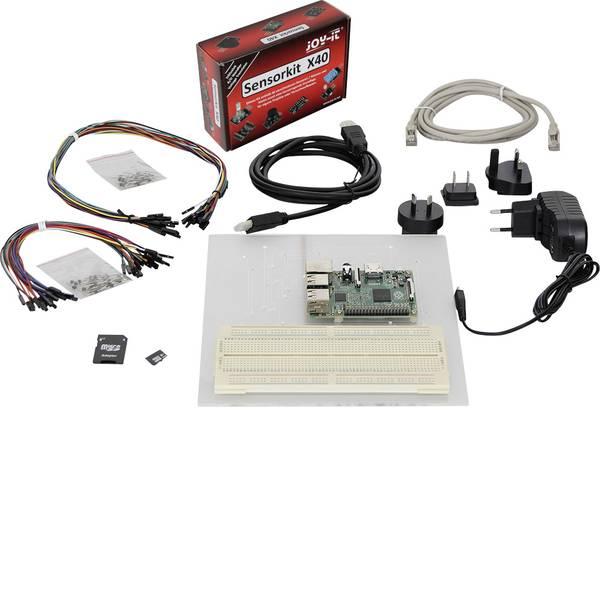 Schede di sviluppo e Single Board Computer - Raspberry Pi® 3 B Sensor Set 1 GB 4 x 1.2 GHz incl. sensori, incl. breadboard, incl. cavo di alimentazione, incl. cavo  -