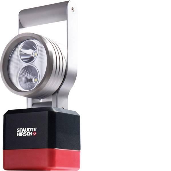 Torce con batterie ricaricabili - Staudte-Hirsch 551000 Lampada portatile a batteria SH-5.100 Nero, Argento, Rosso LED -