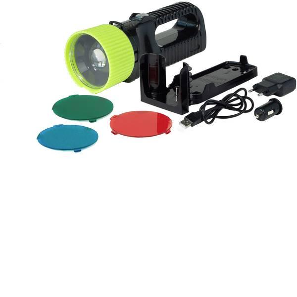 Torce con batterie ricaricabili - AccuLux 442081 Lampada portatile a batteria AccuLux UniLux PRO Nero, Giallo LED 6 h -
