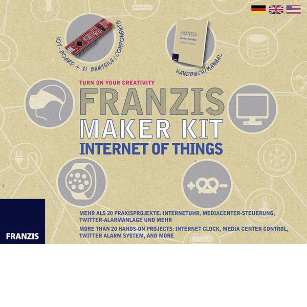 Kit esperimenti e pacchetti di apprendimento - Kit per i Makers Franzis Verlag Maker Kit Internet of Things 65316 da 14 anni -