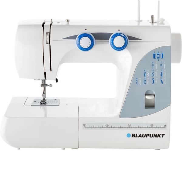 Macchine da cucire - Blaupunkt Macchina per cucire a braccio libero Casual 845 Luce LED Bianco, Blu -