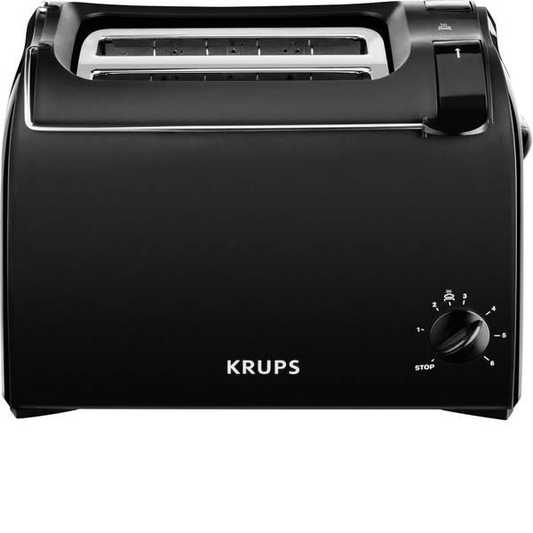 Tostapane - Krups KH1518 Tostapane Con griglia scaldabriosche integrata Nero -