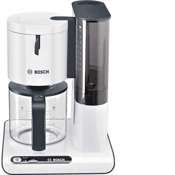 Macchine dal caffè con filtro - Bosch Haushalt TKA8011 Macchina per il caffè Bianco, Antracite Capacità tazze=10 Caraffa in vetro, Funzione mantenimento  -