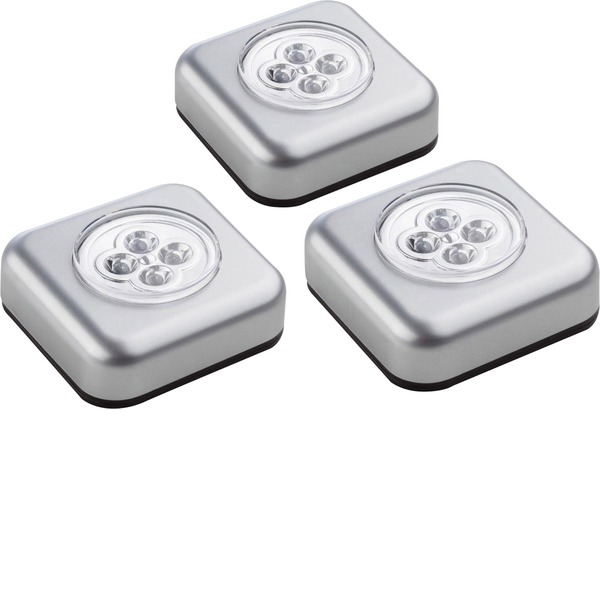 Mini lampade portatili - Müller Licht 400136 Lampada portatile Kit da 3 LED Argento -