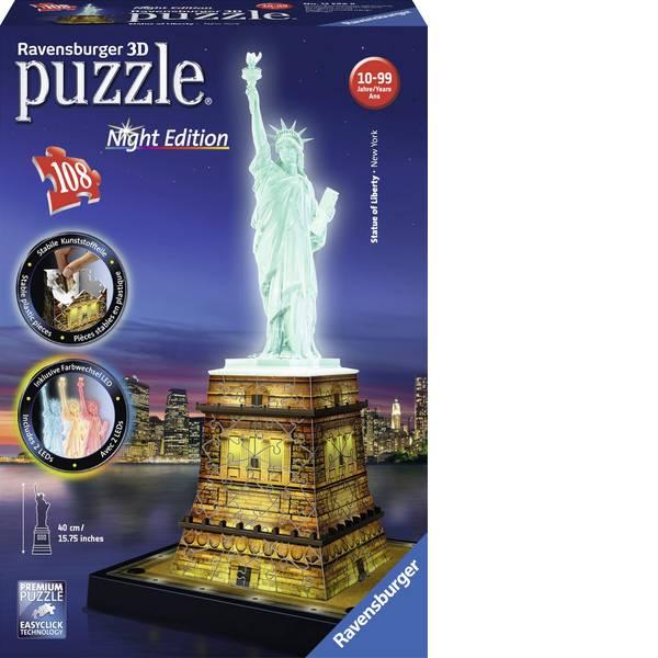 Puzzle - Ravensburger Puzzle 3D Freiheitsstatue di notte -