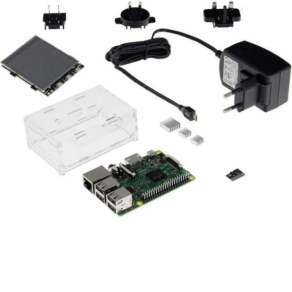 Schede di sviluppo e Single Board Computer - Raspberry Pi® 3 B Display Set 1 GB 4 x 1.2 GHz incl. display touchscreen, incl. cavo di alimentazione, incl. custodia,  -