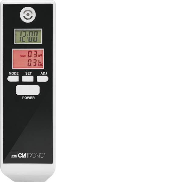 Etilometri - Clatronic AT 3605 Etilometro Bianco, Nero 0.0 fino a 1.9 ‰ incl. display, Visualizzazione diverse unità, Ora, Indicatore  -