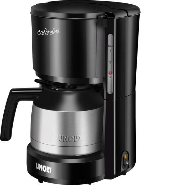 Macchine dal caffè con filtro - Unold Compact Thermo Macchina per il caffè Acciaio inox (spazzolato), Nero Capacità tazze=8 Funzione mantenimento  -
