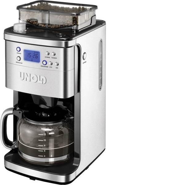 Macchine dal caffè con filtro - Unold Macchina per il caffè Acciaio, Nero Capacità tazze=12 Display, Caraffa in vetro, funzione timer, Funzione  -