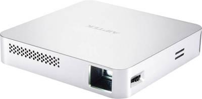 Videoproiettore DLP Aiptek MobileCinema i70 Luminosità: 70 lm 854 x 480 WVGA 1000 : 1 Argento