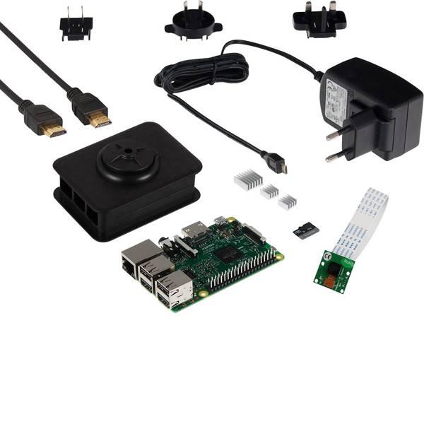 Schede di sviluppo e Single Board Computer - Raspberry Pi® 3 B Camera Set 1 GB 4 x 1.2 GHz incl. modulo camera, incl. cavo di alimentazione, incl. custodia, incl.  -