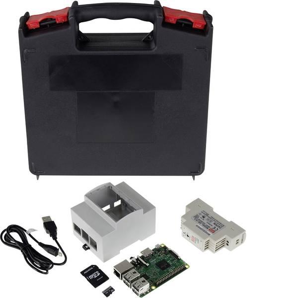 Schede di sviluppo e Single Board Computer - Raspberry Pi® 3 B DIN-Rail Set 1 GB 4 x 1.2 GHz incl. alloggiamento da guida DIN, incl. alimentatore da guida DIN, incl.  -