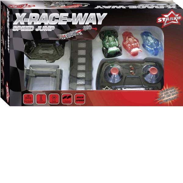 Auto telecomandate - Starkid 68193 Tremplin X-Race-Way Automodello con pista Elettrica Monstertruck Trazione posteriore -
