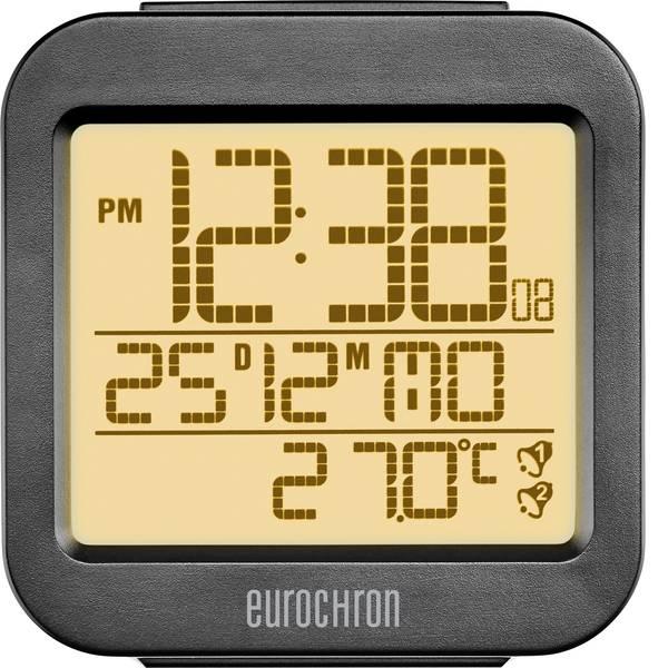 Sveglie - Eurochron RC130 Radiocontrollato Sveglia Antracite Tempi di allarme 2 -