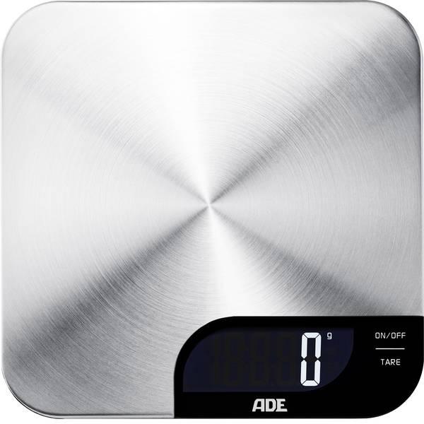 Bilance da cucina - ADE KE 1600 Alessia Bilancia da cucina digitale Portata max.=5 kg Acciaio inox (spazzolato) -
