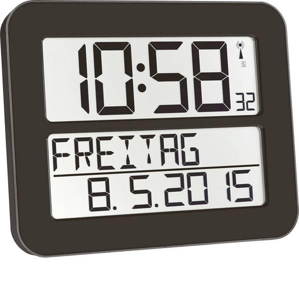 Orologi da parete - TFA 60.4512.01 Radiocontrollato Orologio da parete 258 mm x 212 mm x 30 mm Nero -