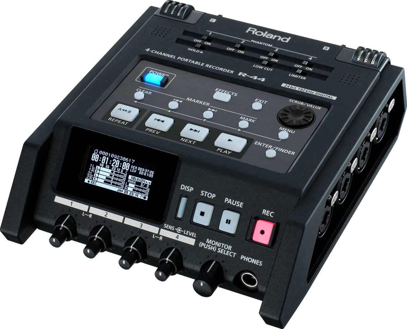 Registratore audio Roland R-44 Nero