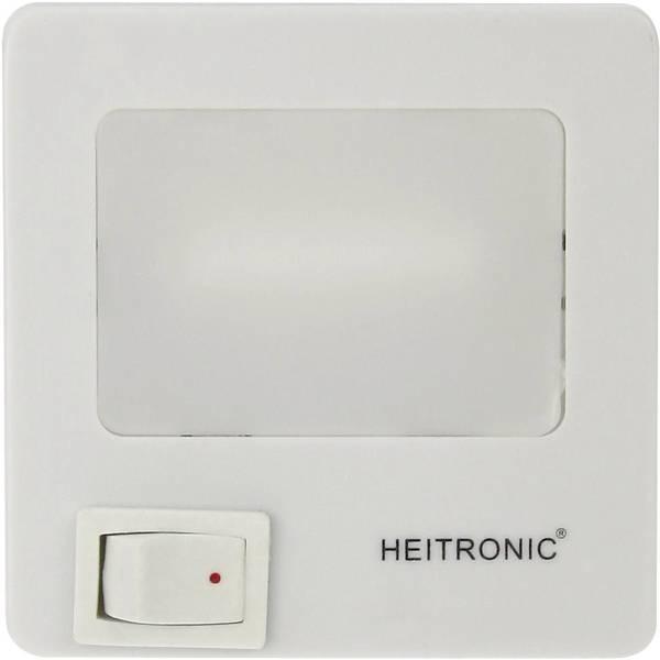 Luci notturne - Heitronic 47202 Luce notturna LED Quadrato LED Bianco neutro Bianco -