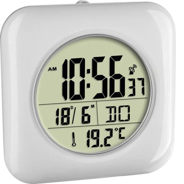 Orologi da parete - TFA 60.4513.02 Radiocontrollato Orologio da parete 170 mm x 170 mm x 60 mm Bianco Adatto per bagno e ambienti umidi -
