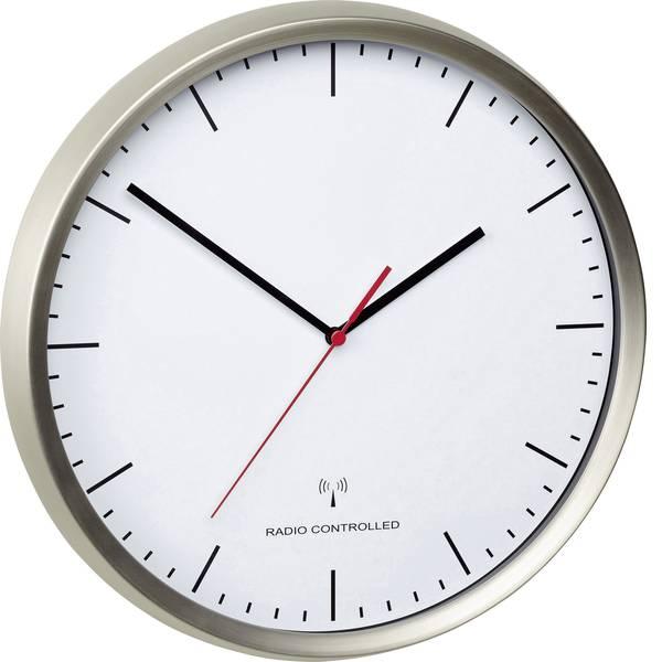 Orologi da parete - TFA 60.3521.02 Radiocontrollato Orologio da parete 30.5 cm x 4.8 cm Acciaio inox (spazzolato) Movimento silenzioso  -