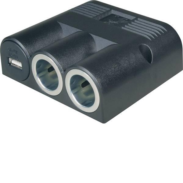 Multiprese per accendisigari - Distributore accendisigari Numero di accendisigari 2 x Interfacce: USB 1 x Portata massima corrente 16 A ProCar 67334501  -