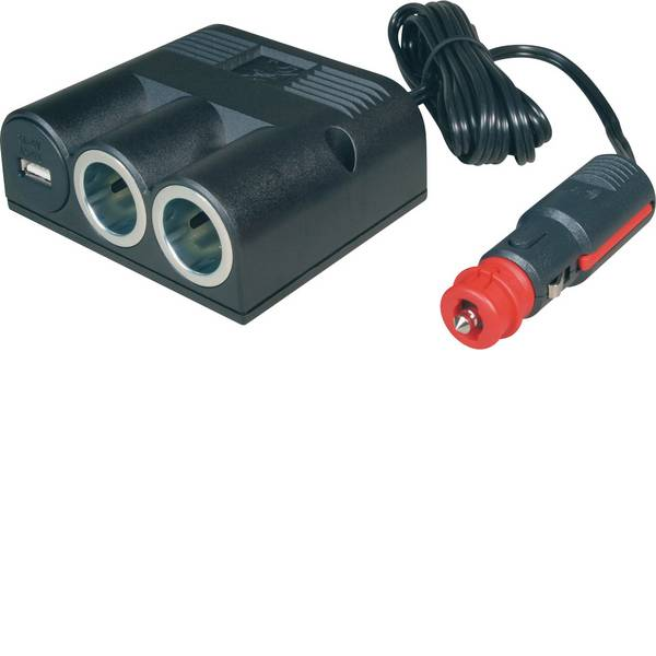 Multiprese per accendisigari - Distributore accendisigari Numero di accendisigari 2 x Interfacce: USB 1 x Portata massima corrente 16 A ProCar 67335501  -