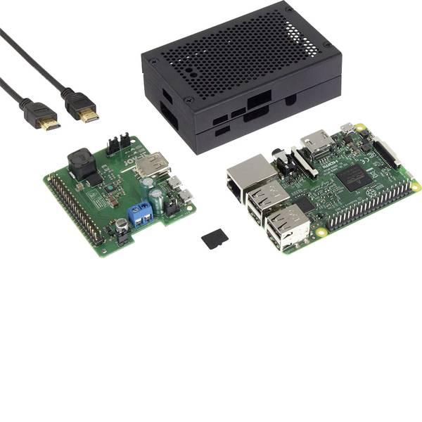 Schede di sviluppo e Single Board Computer - Raspberry Pi® 3 Modello B Set UPS ad ampio raggio 1 GB Noobs incl. sistema operativo Noobs, incl. alloggiamento, incl.  -