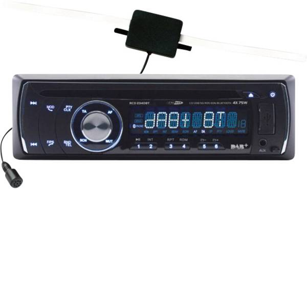 Autoradio e Monitor multimediali - Caliber Audio Technology RCD234DBT Autoradio Sintonizzatore DAB+, Vivavoce Bluetooth® -