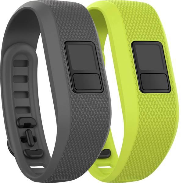 Accessori per fitness tracker - Cinturino di ricambio Garmin vivofit 3 Taglia dim.=Uni Grigio, Verde chiaro -