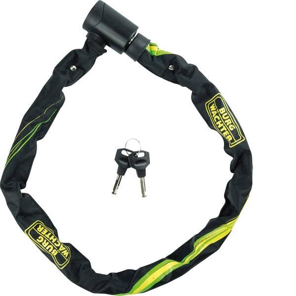 Lucchetti da bicicletta - Burg Wächter 580 90 Catena con lucchetto Nero, Giallo Lucchetto a chiave -