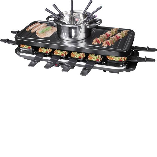 Raclette - Silva Homeline RG-F 12 Raclette Nero -