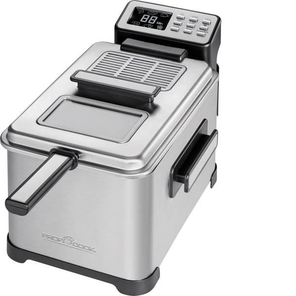 Friggitrici - Profi Cook PC-FR 10 Friggitrice 2500 W con display Acciaio, Nero -