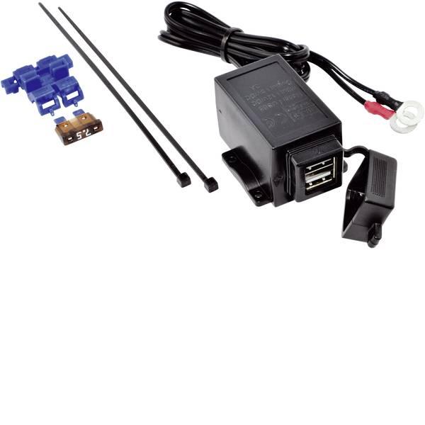 Accessori per presa accendisigari - BAAS Presa doppia USB con possibilità di fissaggio universale Portata massima corrente=3 A Adatto per USB-A -