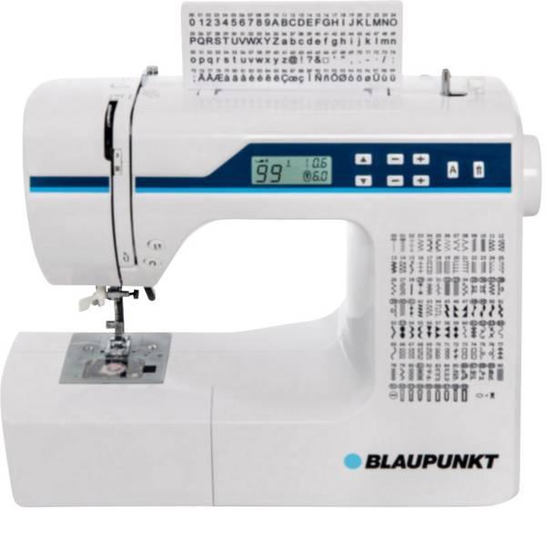 Macchine da cucire - Blaupunkt Macchina per cucire a braccio libero Comfort 930 con display, Luce LED Bianco, Blu chiaro -