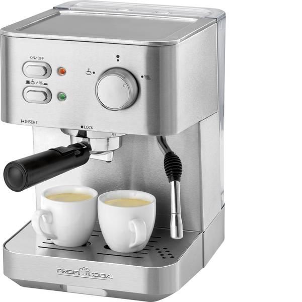 Macchine per caffè espresso - Macchina per caffè espresso Profi Cook PC-ES 1109 Acciaio, Nero 1050 W con scalda tazze -