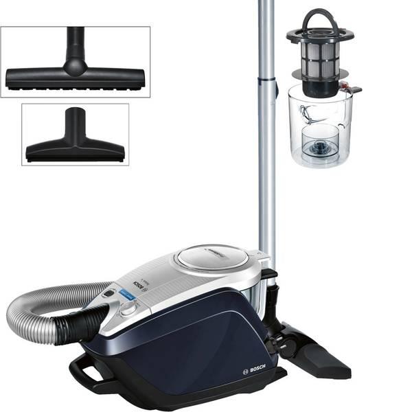 Aspirapolveri - Bosch Haushalt BGS5A300 Relaxxx ProSilence Plus Aspirapolvere senza sacco 700 W Argento, Navy-Blu -