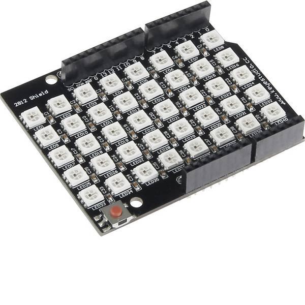 Shield e moduli aggiuntivi HAT per Arduino - Scheda di espansione per pcDuino Shield RGB incl. 40 LED nero, bianco -